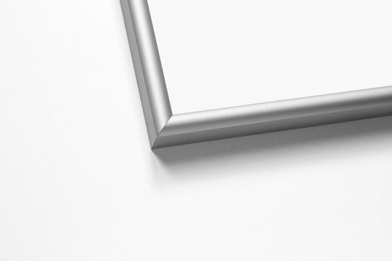 Рамка аналог Nielsen профиль №2 серебристый