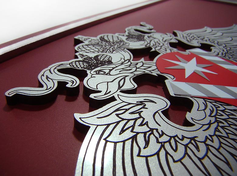 Элемент таблички - объемный герб
