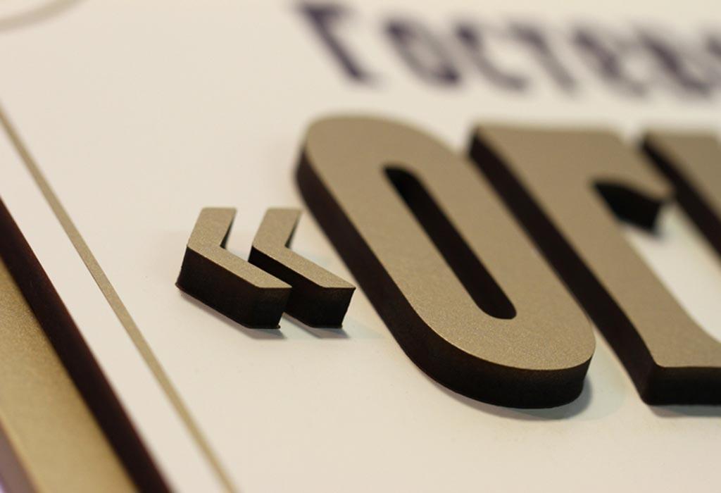 Табличка для гостиницы с объемными буквами
