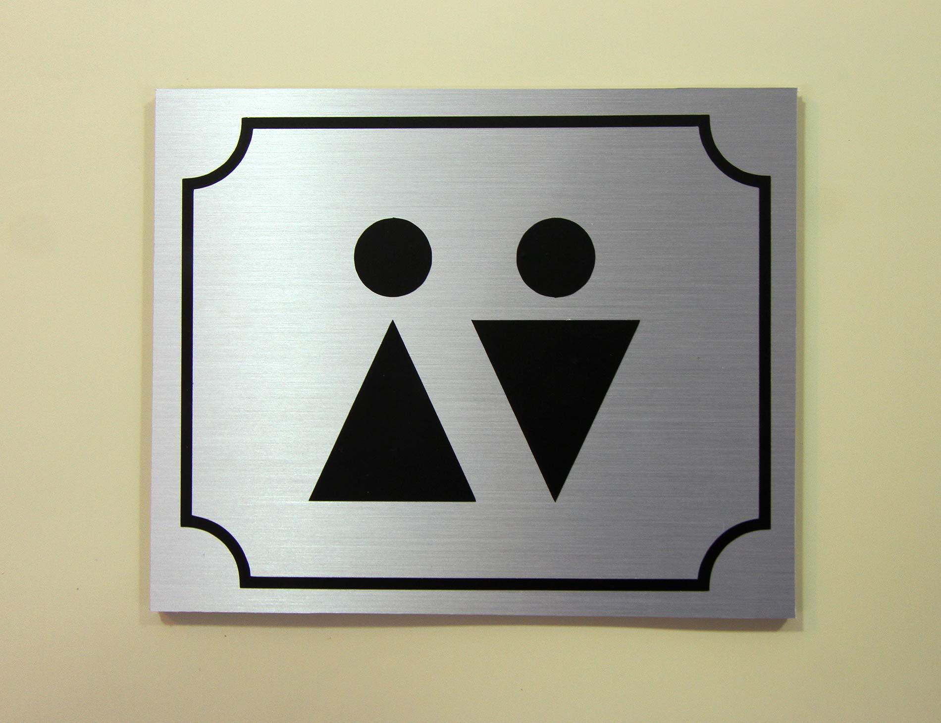 Табличка из фактурного металлопластика
